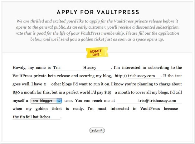 Apply for Beta — VaultPress.jpg